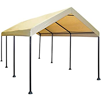 Caravan Canopy Mega Domain 10 X 20-Feet Carport - Tan  sc 1 st  Amazon.com & Amazon.com : Caravan Canopy 10 X 20-Feet Domain Carport White ...