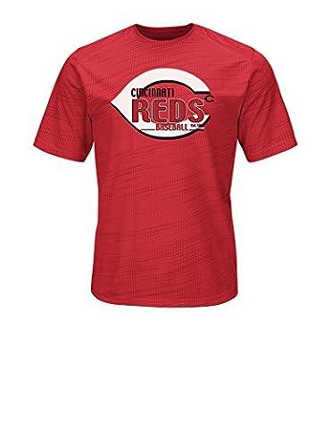 MLB Cincinnati Reds Men's Bringing The Glory Tops, Red, Small - Cincinnati Reds Polo