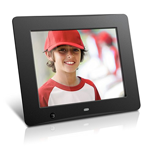 Aluratek ADMSF108F 8-Inch Digital Photo Frame with Energy Efficient Motion Sensor 4GB Built in Memory (Black) by Aluratek