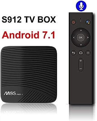 LAY Decodificador Smart TV, TV Box 3G / 32G WiFi Voz Android Reproductor Multimedia Remoto 7.1 TV Box Voz del Jugador,A,Withoutlanguage: Amazon.es: Deportes y aire libre