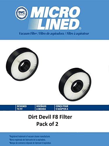 DVC Micro-Lined DVC Created Dirt Devil F8 HEPA Media Replacement Filter for Pack of 2 by DVC Micro-Lined