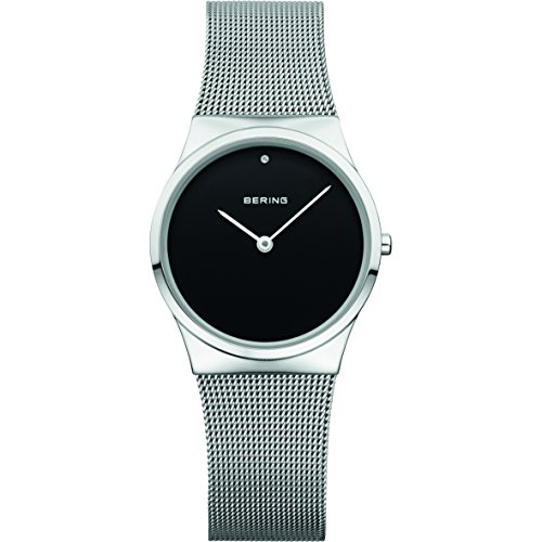 BERING Time 12130-002 Women Classic Collection Watch with Stainless-Steel Strap and scratch resistent sapphire crystal. Designed in Denmark