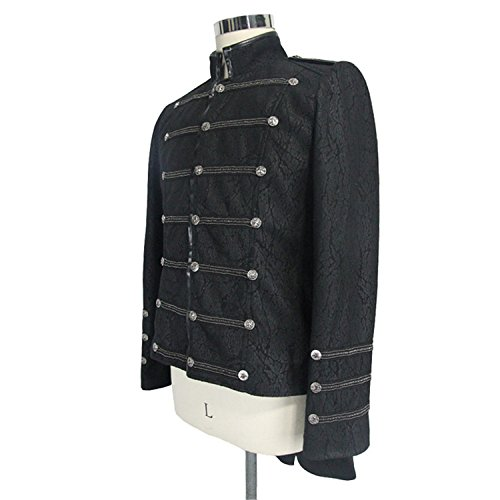 Visivo Fashion Gotico 6 Devil Militare Casual Punk Con Rivestimento Cappotto Misure Monopetto Invernale BqHw0gnH