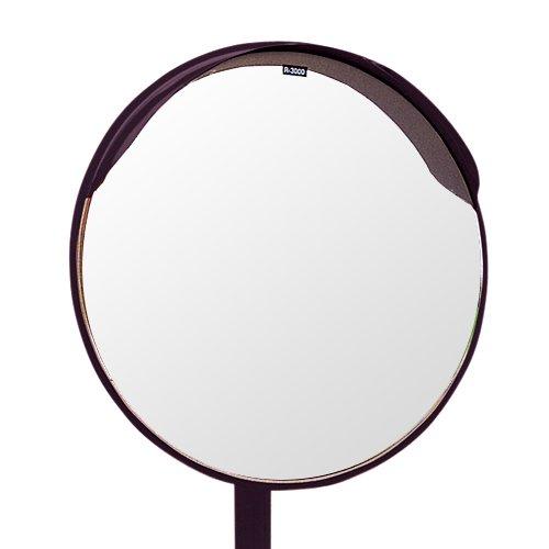 ホップ アクリル製 道路反射鏡 ミラーと支柱(ポール)セット 丸型60cm φ600 HPLA-丸600SP茶 日本製 道路反射鏡協会認定商品   B01J2OLCVU