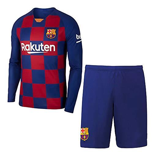 qiliu Custom Soccer Jersey Long-Sleeve Men Boys Shirt Shorts Socks Set 2019-2020 (Home/Away) Personalized Any Name and Number