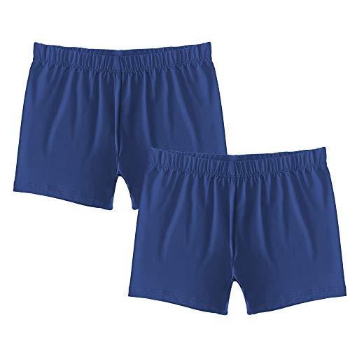 Popular Girl's Premium Playground Shorts - 2 Pack - Navy - S (6/6X) ()