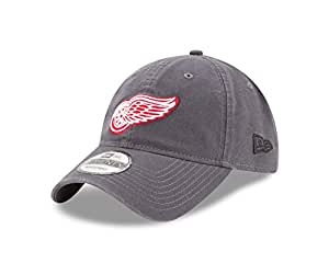 NHL Detroit Red Wings Adult Core Classic Graphite 9TWENTY Adjustable Cap, One Size, Graphite