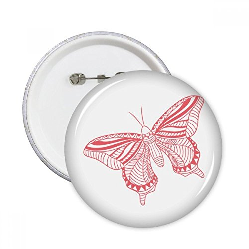 Butterfly Clothing Kite (Pink Butterfly Kite Round Pins Badge Button Clothing Decoration Gift 5pcs)