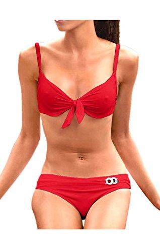 Heine Bügel-Bikini B-Cup Größe 40 Rot