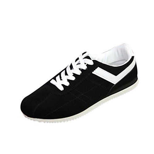 up Running Shoes Trainers Fashion Shoes Lightweight Heel Ankle Shoes Gym Fitness Low Black Men's Shoes Casual Sport Sneakers Casual Flat Bovake Lace Jogging qwaAvv