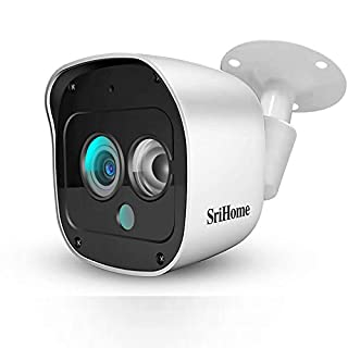 SriHome Outdoor Security Camera, 2304 x 1296Pixel IP Camera with Motion Detection and 10m Night Vision Mode, Support Two-Way Audio and Real-time Monitor, IP66 Waterproof