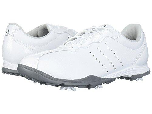 舗装本体贅沢(アディダス) adidas レディースゴルフシューズ?靴 Adipure DC Footwear White/Silver Metallic/Silver Metallic 6 (23cm) M