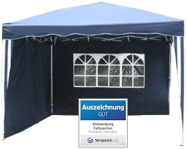 Amazon De Kronenburg Faltpavillon Wasserdicht Dachmass 3 X 3 M Uv