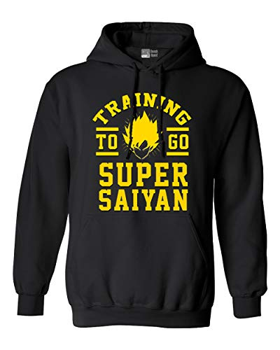 Training to Go Super Saiyan Anime Funny Parody DT Sweatshirt Hoodie (Large, Black)]()