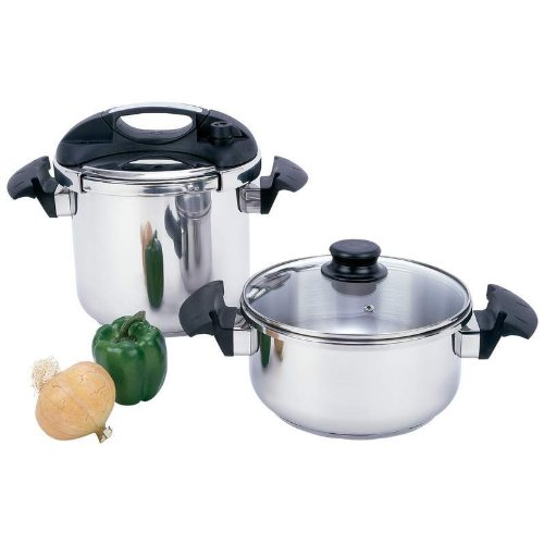 Precise Heat KTPCST4 4 Piece Pressure Cooker Set by Precise Heat