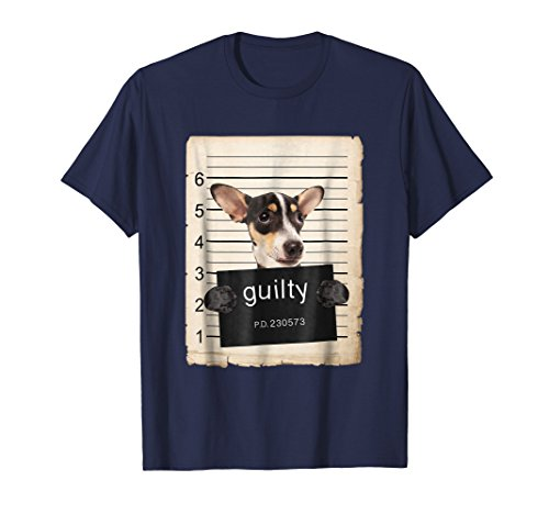 Rat terrier dog Dog mug shot bad dog Shirt ()