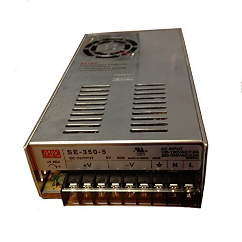 MeanWell SE-350-5 100V-120VAC or 200-240VAC INPUT, 5VDC OUTPUT, 350WATTS, Switch Selectable