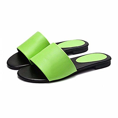 pour Plat Fond des Sandales green Le Femmes Sur Sandales Et YUCH 4B5q1x