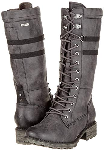 Women's Combat anthracite Tamaris 214 26625 Boots 21 Grey wtxwdqYS
