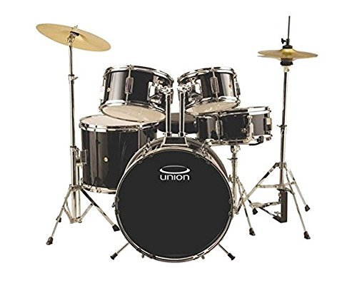 Union DBJ5052(BK) 5-Piece Junior Drum Set with Hardware Cymbal and Throne Black [並行輸入品] B07BS1Z1R4