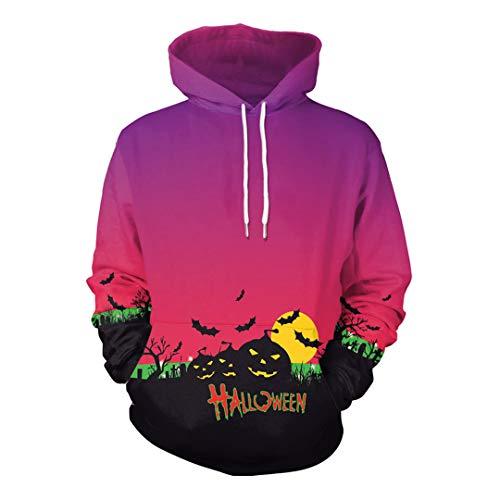 Unisex Halloween Pumpkins 3D Printing Clothes Long Sleeve Hoodie Sweatshirt]()