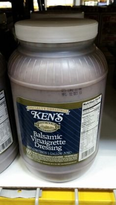 Ken's Balsamic Vinaigrette Dressing 1 Gallon (4 Pack Case) by Ken's