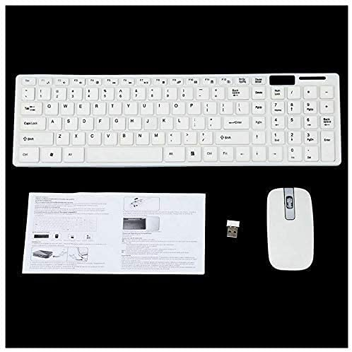 Borda Creation Ultra Thin 2.4GHz Big Wireless Keyboard & Mouse Combo Kit for Laptop and PC(White Colour) Built Quality of Wireless Mouse & Keyboard with Combo Kit Competible (White,Black,Multi)