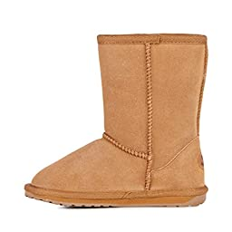 EMU Australia Wallaby Classic Lo Boot (Toddler/Little Kid/Big Kid),Chestnut,10 M US Toddler