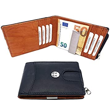 2564aeb3bd4d1 Sale! Premium Leder Geldbeutel Männer mit Geldklammer – Kreditkartenetui  mit 8 Kartenfächern und Münzfach -