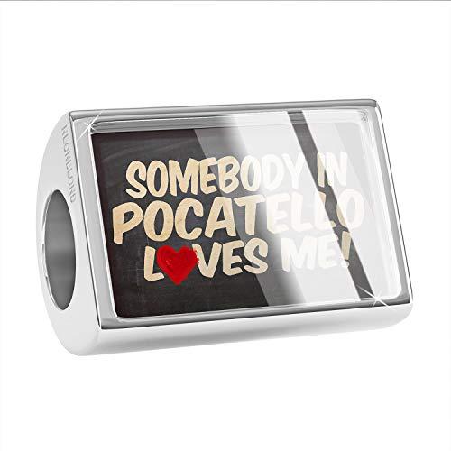 - NEONBLOND Charm Somebody in Pocatello Loves me, Idaho Bead