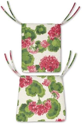 Plow Hearth Geranium Patio Furniture Cushions and Pillows Rocker Chair Cushion