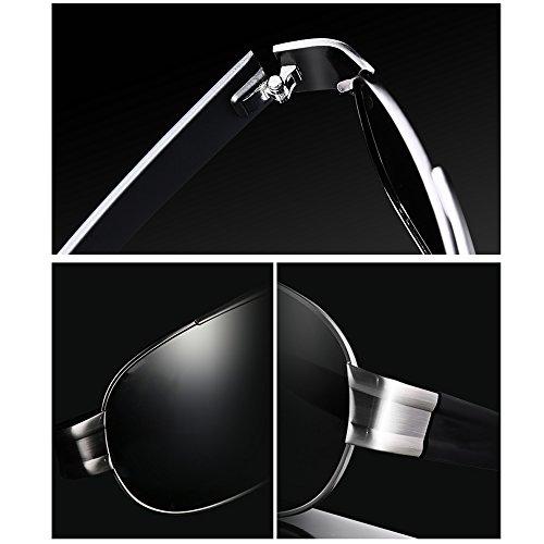 De Espejo Gafas Gris De Negro ConduccióN con Hombre TESITE para Cuadradas ProteccióN UV Gafas Sol 100 Polarizadas qpx45H