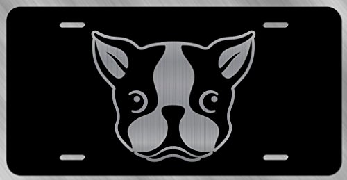 Boston Terrier Dog Vanity Front License Plate Tag KCE221