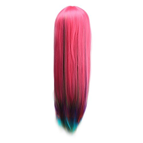 AISHN Wigs315 Inch80cm Long StraightCurly Wig With Wig Cap For CosplayParty