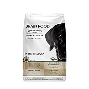 Grain Free Dog Food - Natural Quality Protein Dry Dog Food with Vitamins and Minerals - Helps with Digestion, Joint Health, Brain Health, and Promotes Good Behavior - Whitefish and Duck (20 lb. Bag)