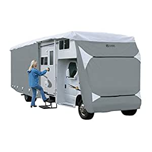 Classic Accessories Overdrive PolyPro III Deluxe Class C RV Cover, Fits 23' - 26' RVs - Breathable and Water Repellant RV Cover (79363)