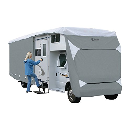 Classic Accessories OverDrive PolyPRO 3 Deluxe Class C RV Cover, Fits 23' - 26' RVs - Max Weather Protection with 3-Ply Poly Fabric Roof RV Cover (79363) by Classic Accessories