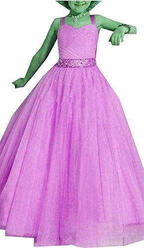 Schulter Kinder Sweetheart emmani Blume Gaze Girl lang Gürtel Pink 's Kleidung qBgAa