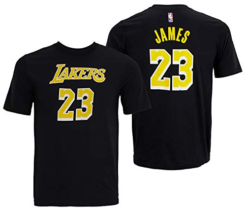 Outerstuff Lebron James Los Angeles Lakers #23 Youth Player Name & Number T-Shirt Black (Youth Large - Los Lakers Tee Angeles