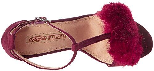 01 Red Buffalo Bar 315960a A200 Burgundy T Sue Sandals Bhwmd IMI Women's aaSrwUqP