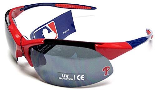 - siskiyousport Philadelphia Phillies MLB Rimless Blade Frame Red UV Extreme Sunglasses Blade Adult Men's