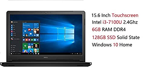 2017 Newest Dell Inspiron 15 5000 High Performance Premium Flagship Touchscreen Laptop (Intel Core i3-7100U 2.4Ghz, 6GB RAM, 128GB SSD, DVD, HDMI, Bluetooth, WiFi, Webcam, Windows 10 (Dell Smart Card Reader)