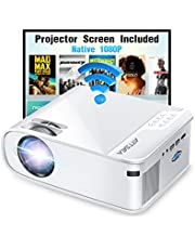 """$229 » Projector, ARTSEA 5G WiFi Projector W25 Native 1080P Projector 8500L HD Outdoor Video Projector 300"""", Synchronize Screen & 4K Movie Projector Compatible with Laptop/TV Stick/HDMI, for iPhone & Android"""