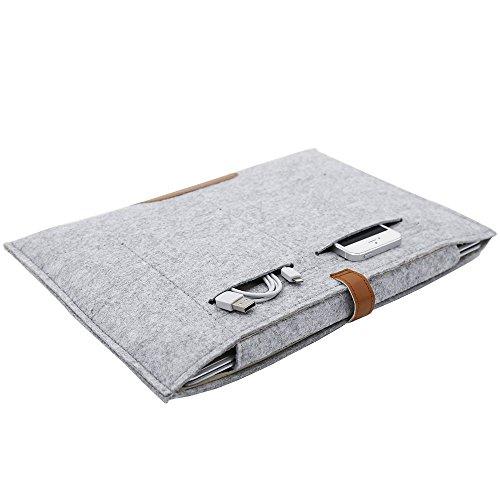 12' Envelope Laptop Sleeve - RAINYEAR Protective Slim Paperwhite Macbook Bag Case Envelope Flip Felt Sleeve for 13