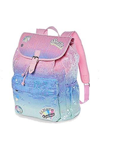 Justice Get Happy Ombre Sequin Rucksack Backpack]()