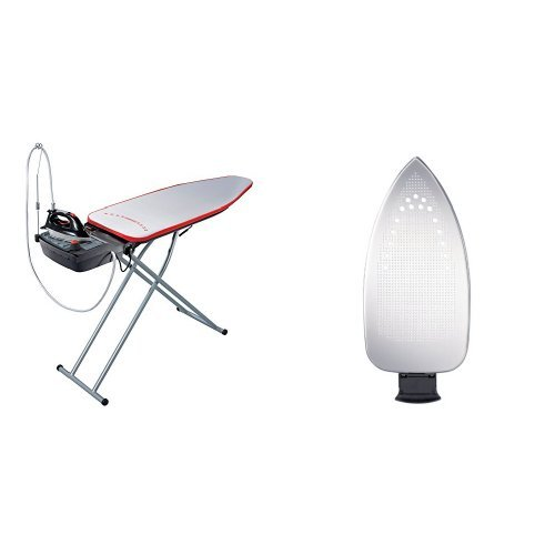 Leifheit Air Active L Steam Ironing System with Iron, Protective Ironing Sole Plate, Ironing Board and Integrated Steam