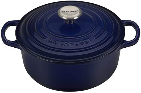 Le Creuset Dutch Oven – Signature Enameled Cast Iron – 2.75-quart Round – Indigo Blue