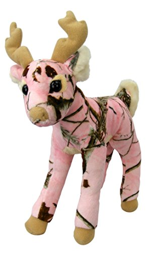 Pink Camo Realtree Deer 14 Inch Animal Camouflage Stuffed Animal Soft Plush