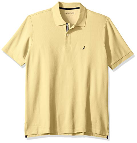 Nautica Men's Classic Fit Short Sleeve Solid Performance Deck Polo Shirt, Corn, 4X Big