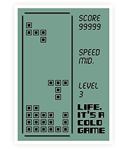 Amazoncom Lab No4 Life Its A Cold Game Quotes Poster In A3 165